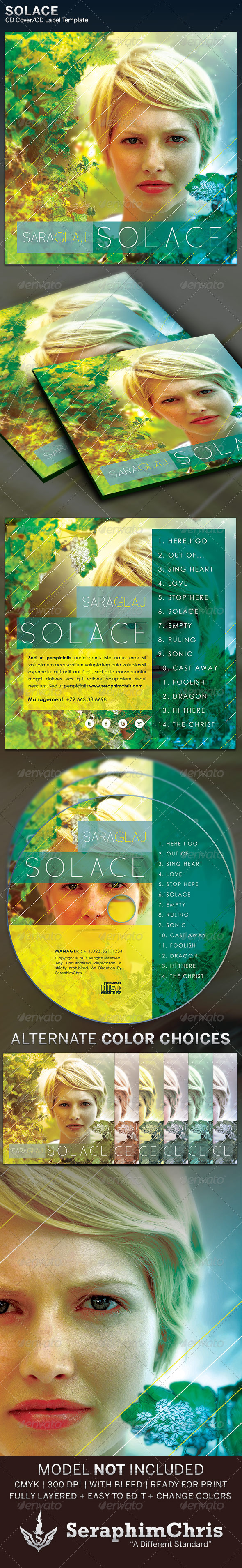 GraphicRiver Solace CD Cover Artwork Template 5565505