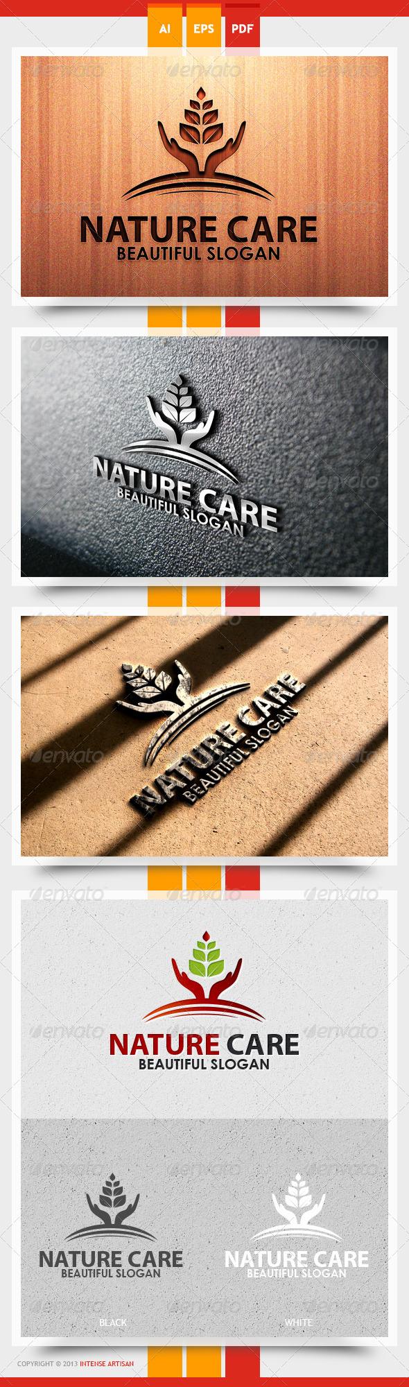 GraphicRiver Nature Care Logo Template 5565590