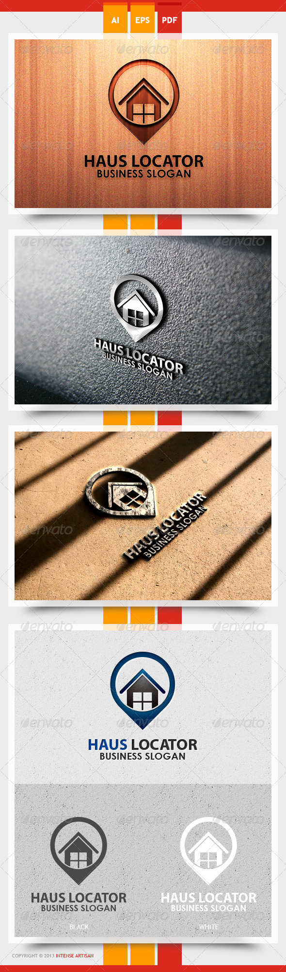 GraphicRiver Haus Locator Logo Template 5565611