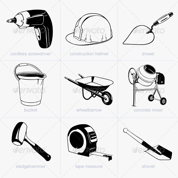 GraphicRiver Construction Tools 5535375
