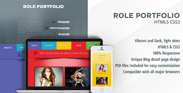 Role - Vibrant One Page Portfolio html template