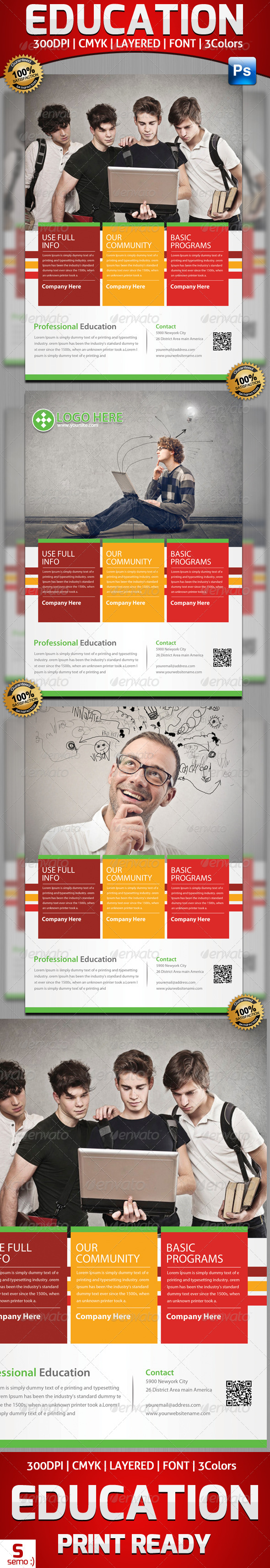 GraphicRiver Education Solution idea Flyer Template 5565915