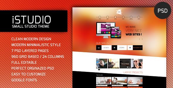 iSTUDIO - Portfolio PSD Template