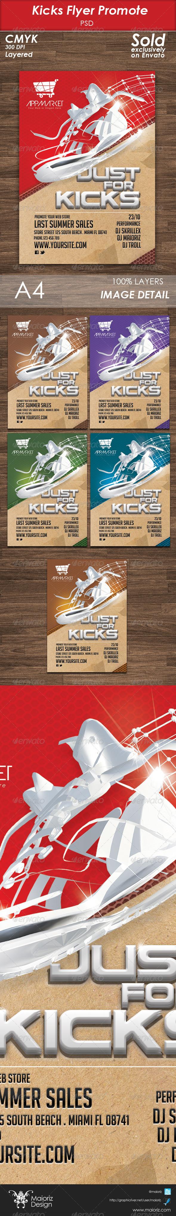 GraphicRiver Kicks Flyer Template 5566258