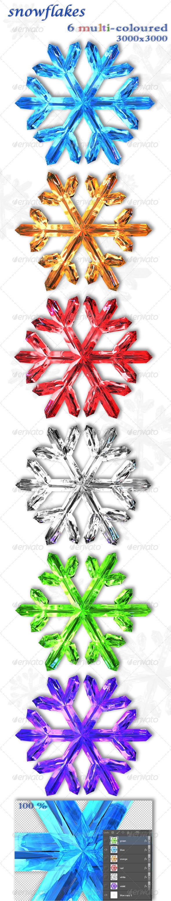 GraphicRiver Snowflakes 5566261