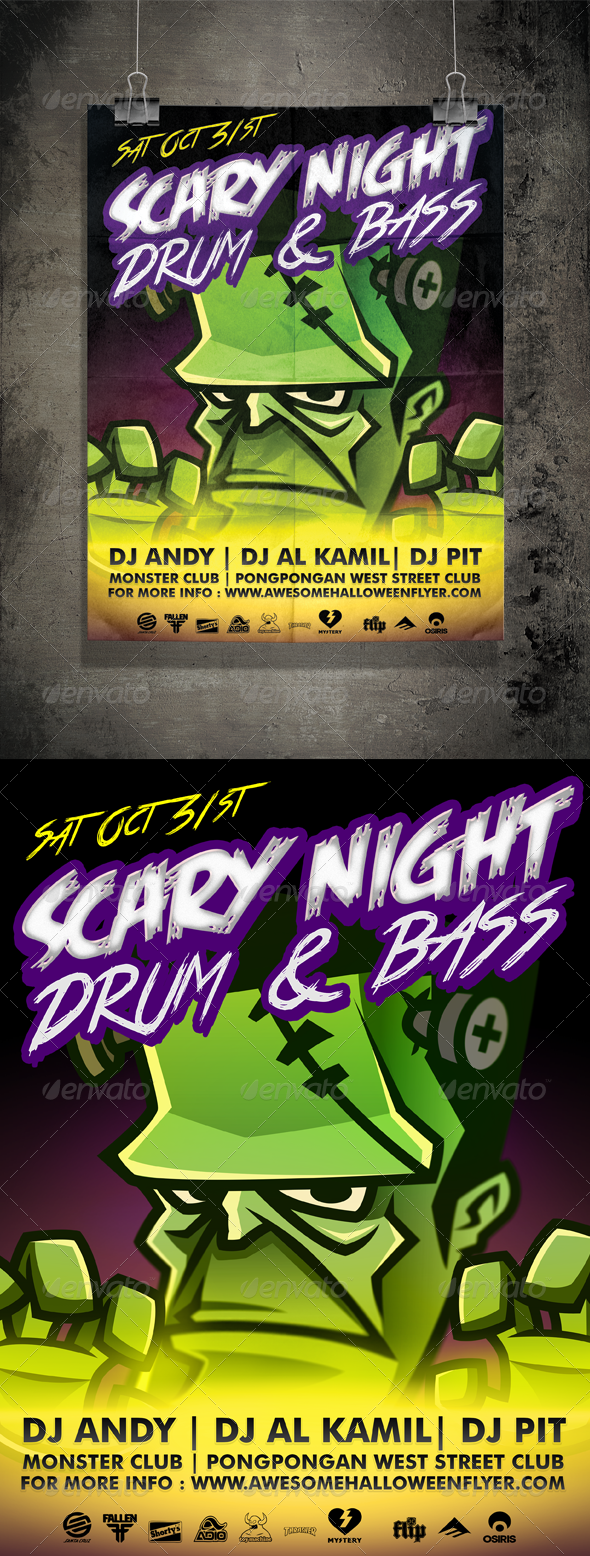 GraphicRiver Halloween Flyer V.2 Scary Night 5566303