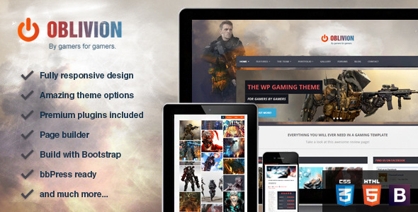 ThemeForest Oblivion The Ultimate Multi-Purpose Gaming Theme 5501609
