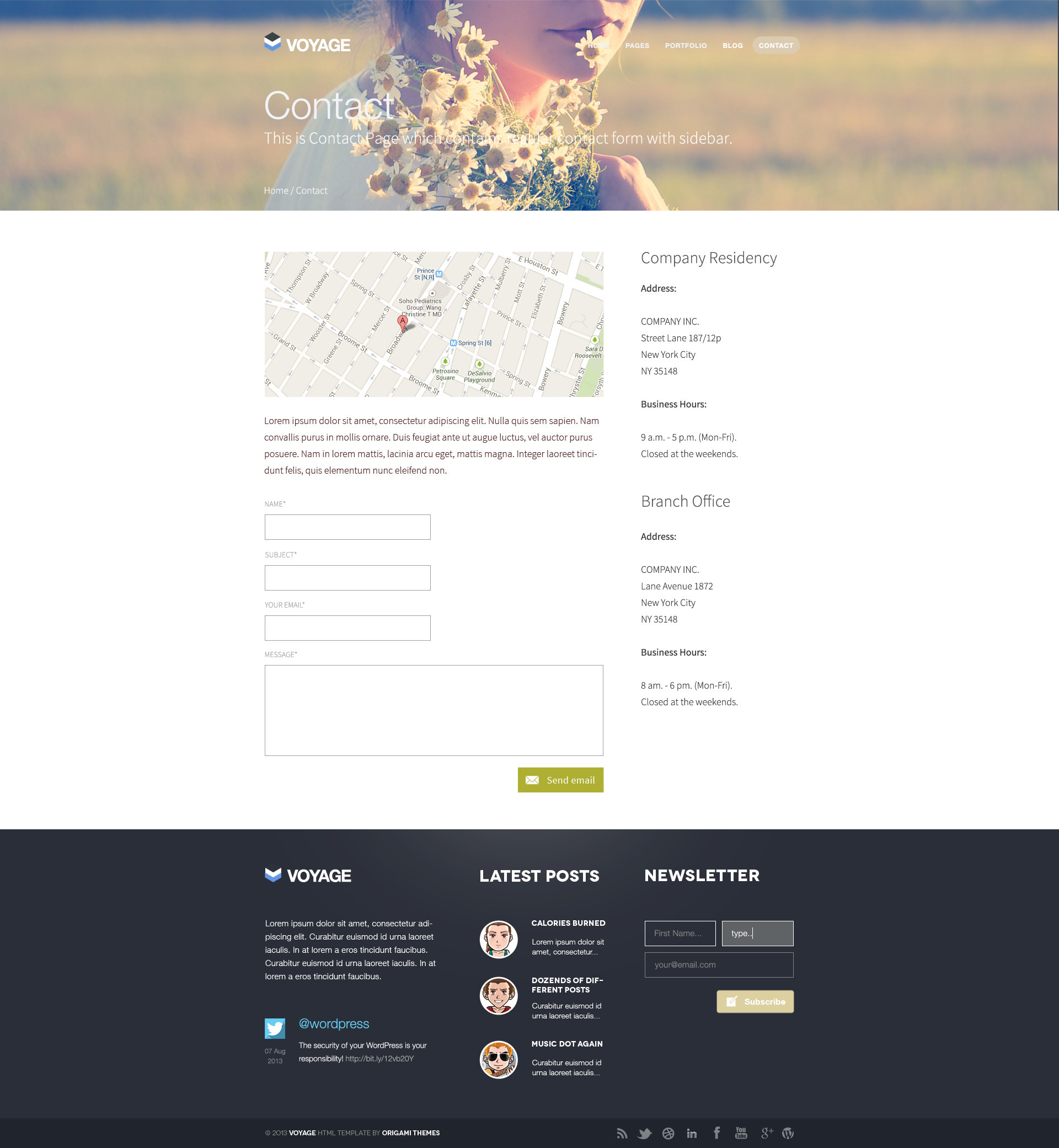 Voyage - Flat & Bold Designed Template