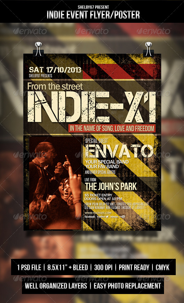 Indie Event Flyer / Poster - Print Templates