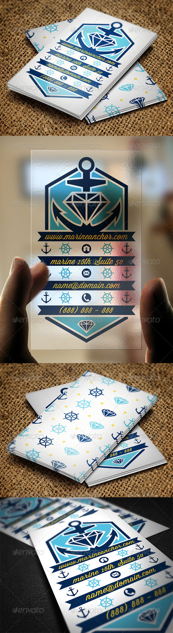 GraphicRiver Marine Anchor Business Card 5566720