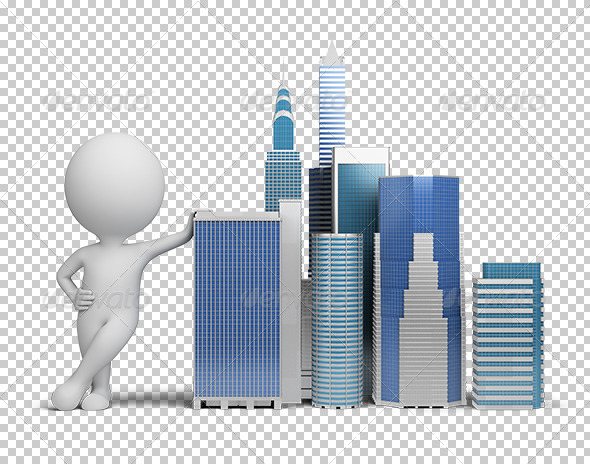 GraphicRiver 3D small people skyscrapers 5566883