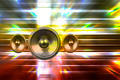Music speaker on a fantasy background - PhotoDune Item for Sale
