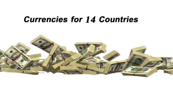 Free Fall For Currencies for 14 Countries