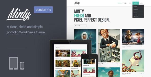 ThemeForest Minty Responsive Portfolio WordPress Theme 5528602