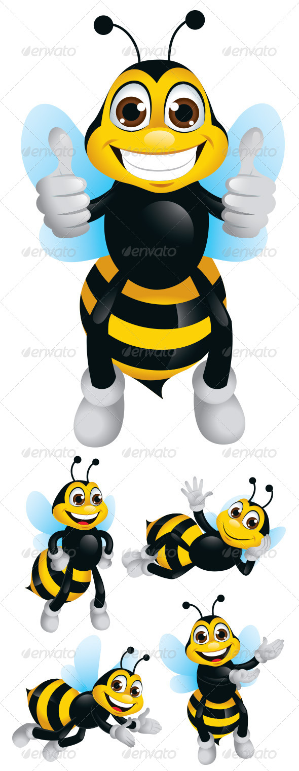 GraphicRiver Bee Mascot Character 5549650