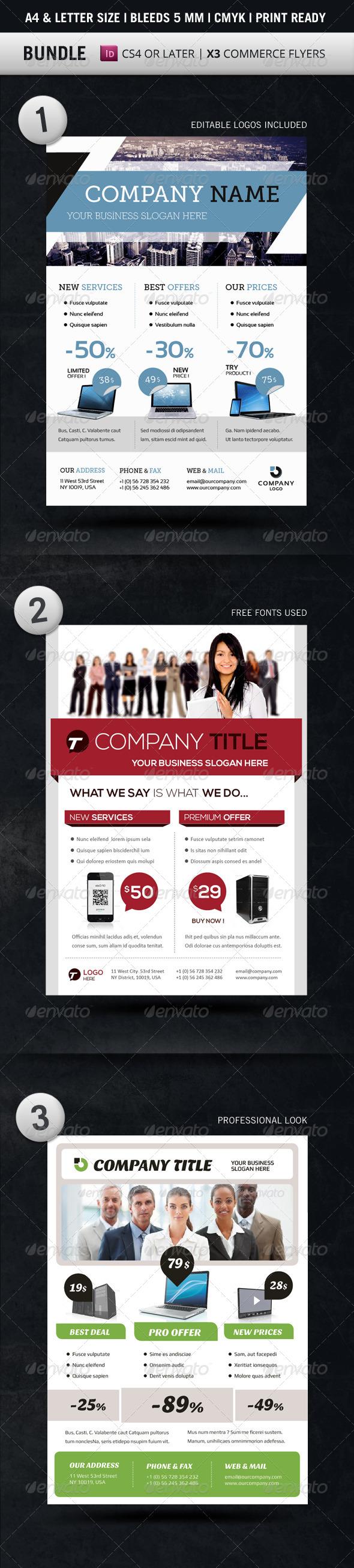 GraphicRiver Bundle Business Flyer Templates A4 & Letter 5567617