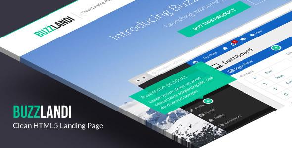 BuzzLandi - Clean HTML5 Landing Page
