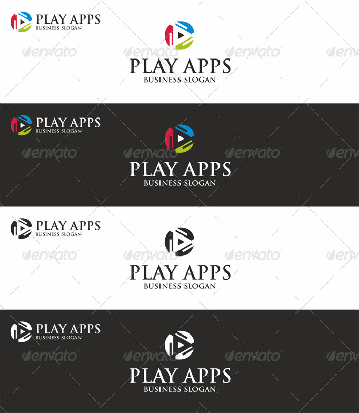Play Apps Software Logo