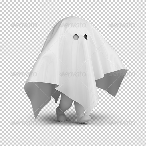 GraphicRiver 3D small people ghost costume 5567707