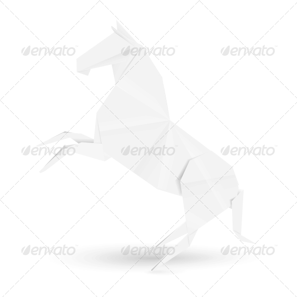 GraphicRiver Illustration of Horse in Origami Style 5567739