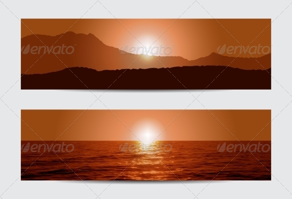 GraphicRiver Sunset Banners 5567759