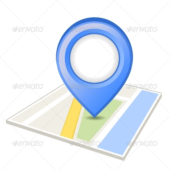 GraphicRiver Blue Pin on Map 5567777