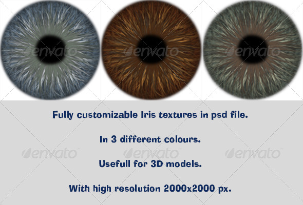 3DOcean Realistic Iris Texture 5567832