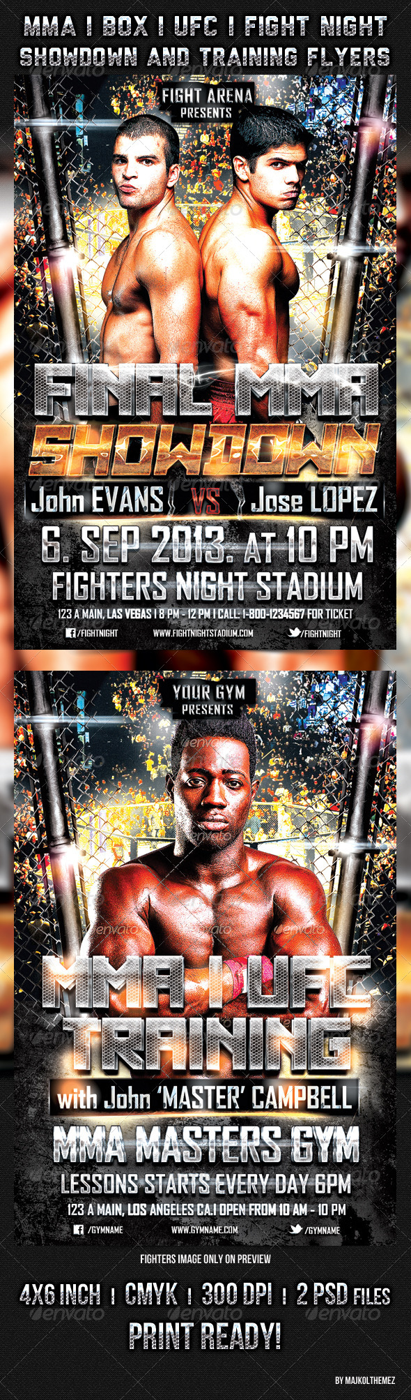 GraphicRiver MMA UFC BOX Showdown and Training Flyers 5545427