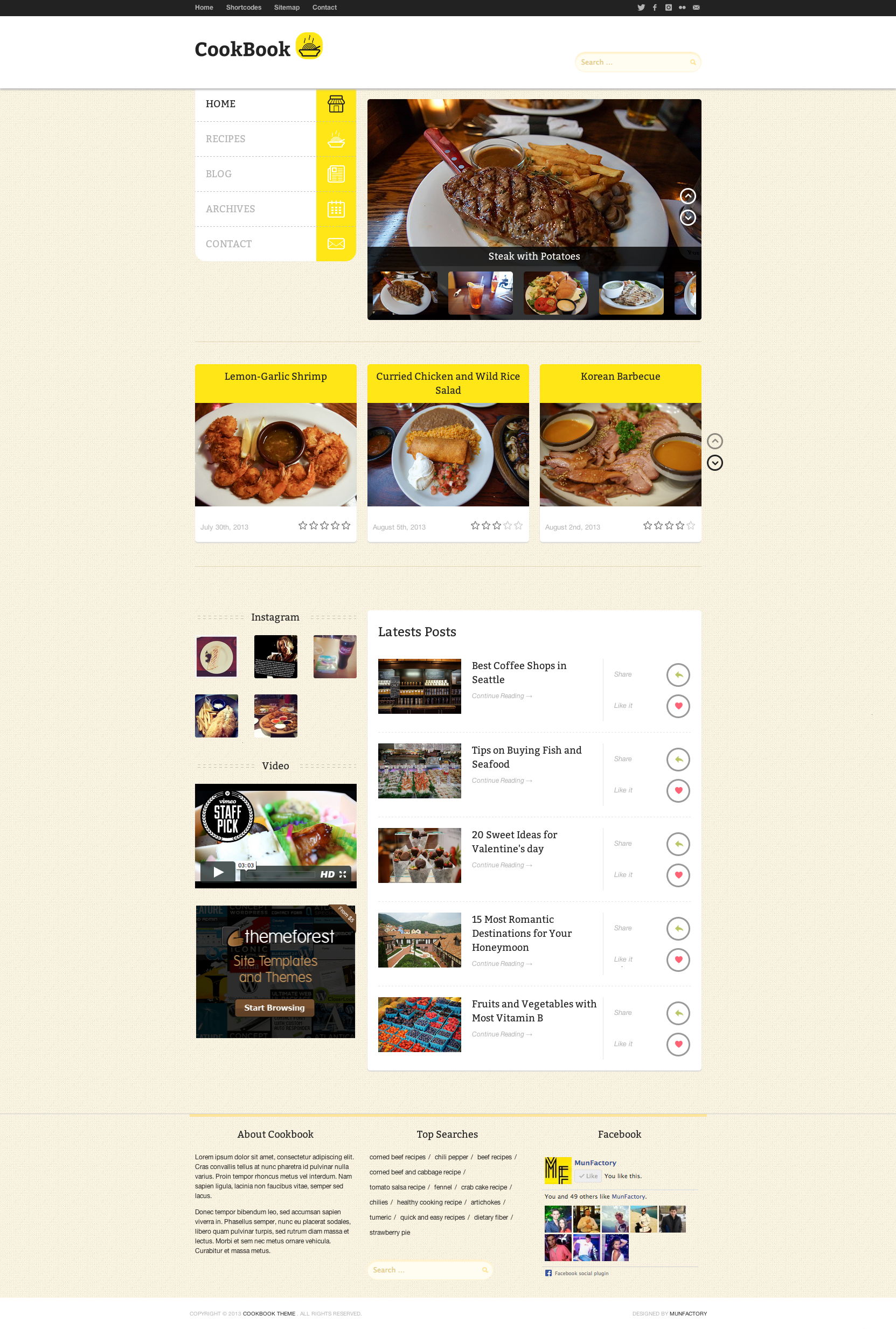 CookBook :: Retina Responsive Recipe HTML Template
