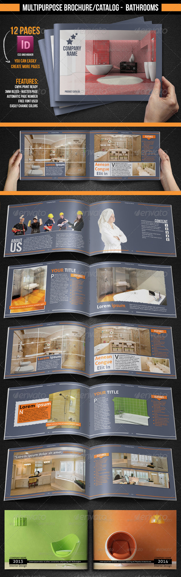 Multipurpose Brochure Catalogue Bathrooms