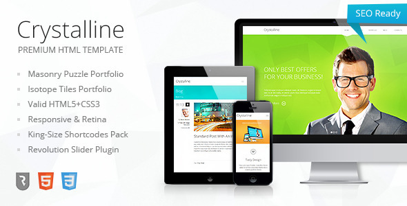 ThemeForest Crystalline Premium HTML5 Template 5568492