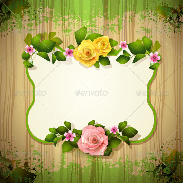 GraphicRiver Mirror with Roses 5568505