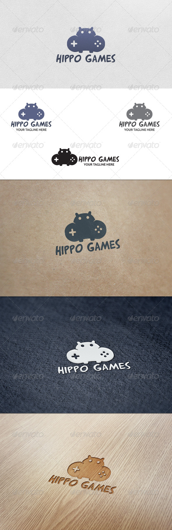 GraphicRiver Hippo Games Logo Template 5568659