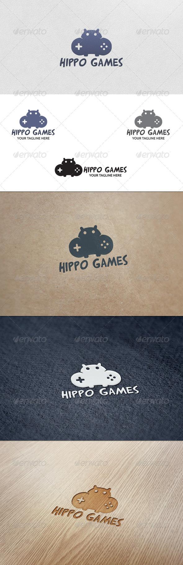Hippo Games - Logo Template