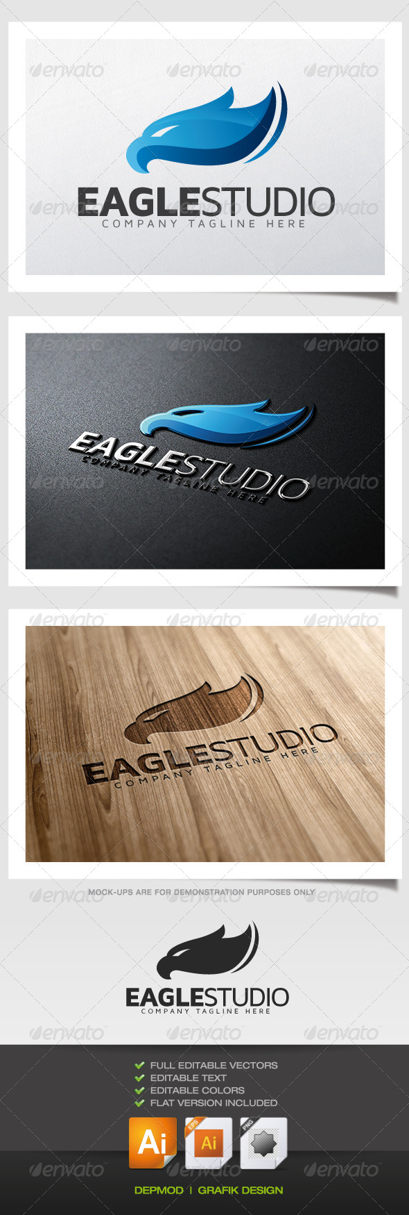 Eagle Studio Logo - Animals Logo Templates