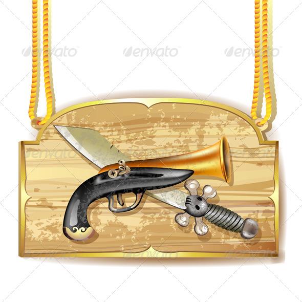 GraphicRiver Pirate Sword and Gun 5568862