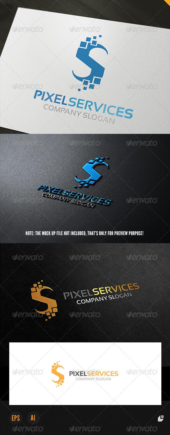 Pixel Services Logo - Letters Logo Templates