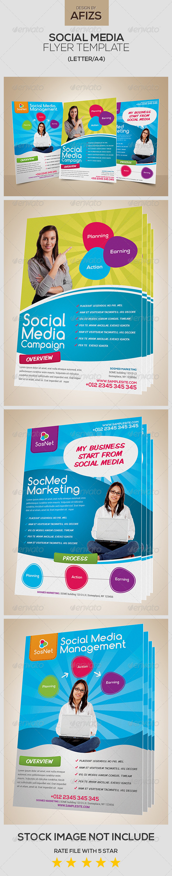 GraphicRiver Social Media Marketing Flyer 5569216