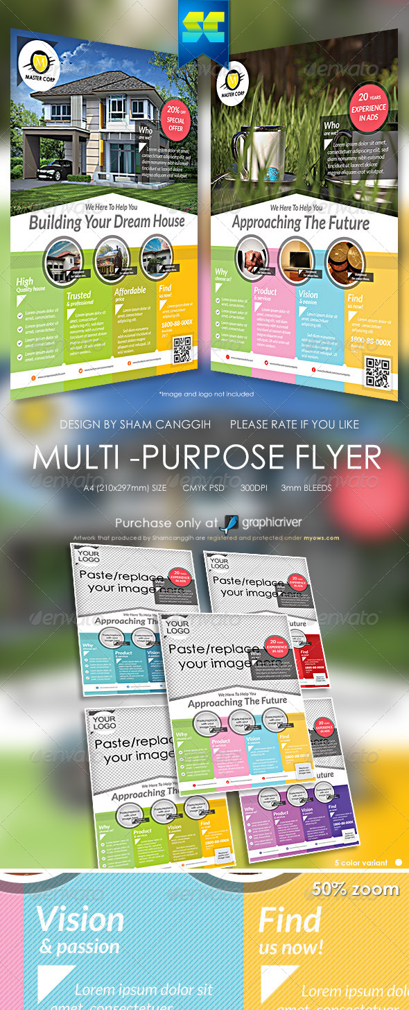GraphicRiver Modern Multi-Purpose Company Flyer 5569355