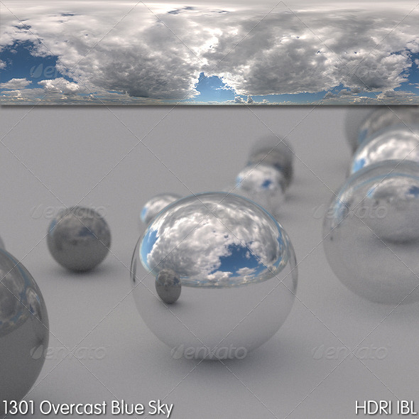 HDRI IBL 1301 Overcast Blue Sky - 3DOcean Item for Sale