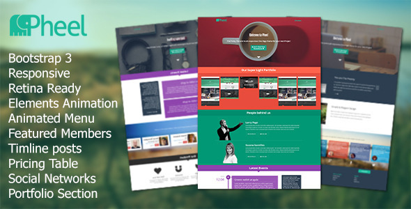 ThemeForest Pheel Responsive Multi Purpose Bootstrap 3 Theme 5549388