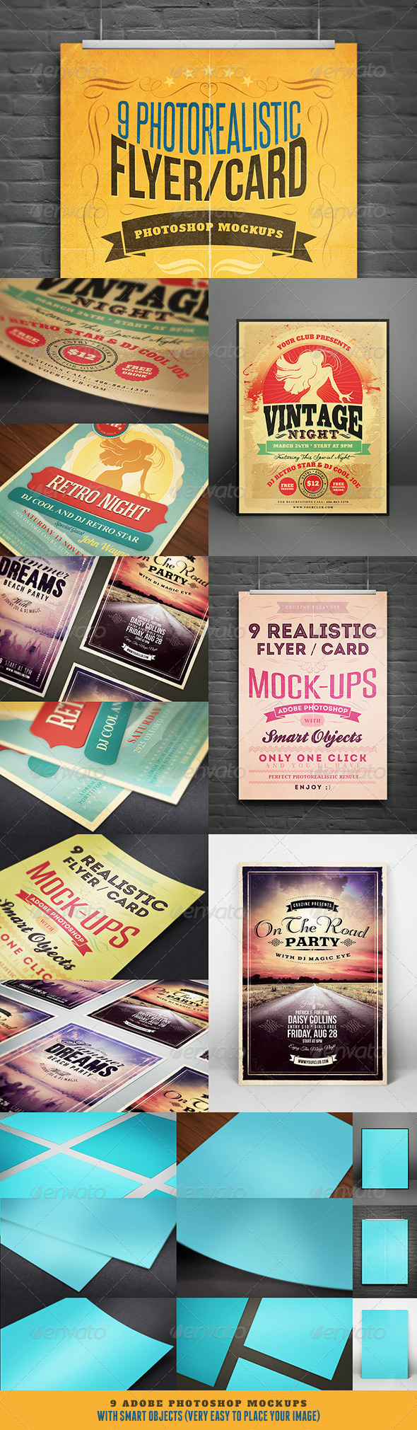 Realistic Flyer/Card Mock-Ups Vol.1 - Flyers Print