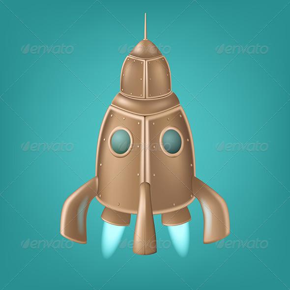GraphicRiver Old Bronze Rocket 5570118