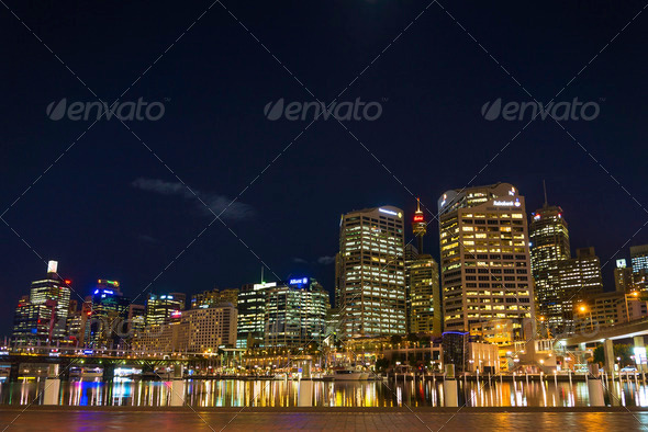 darling harbour in sydney australia - Stock Photo - Images