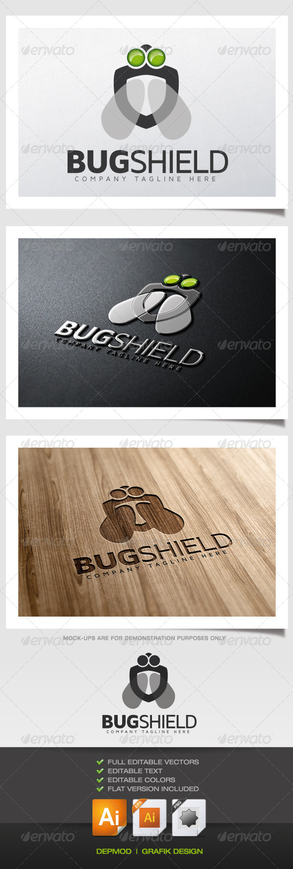 Bug Shield Logo - Symbols Logo Templates