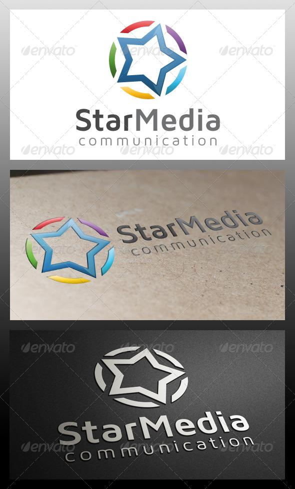 GraphicRiver Star Media Logo Template 5570689