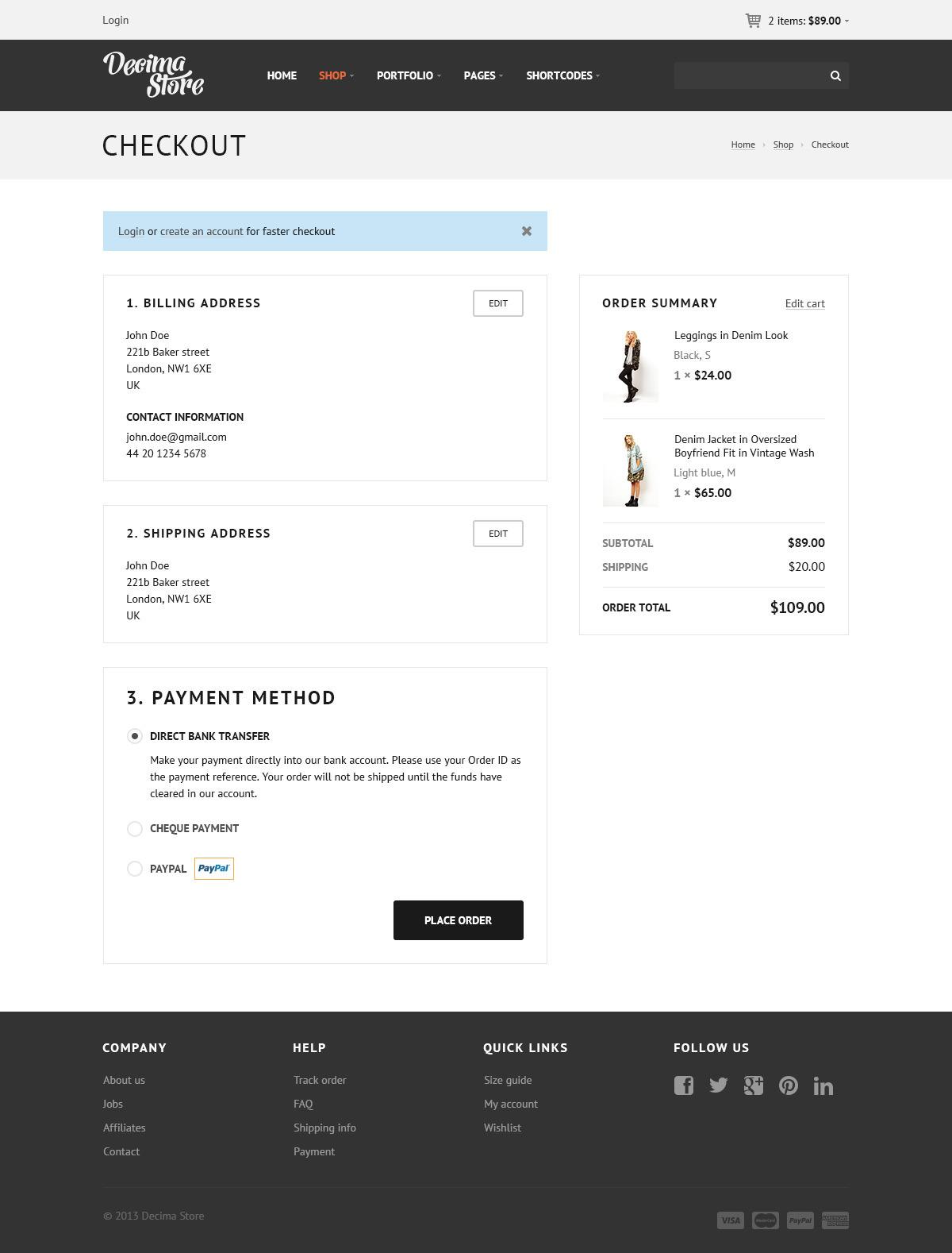 Decima eCommerce PSD Template
