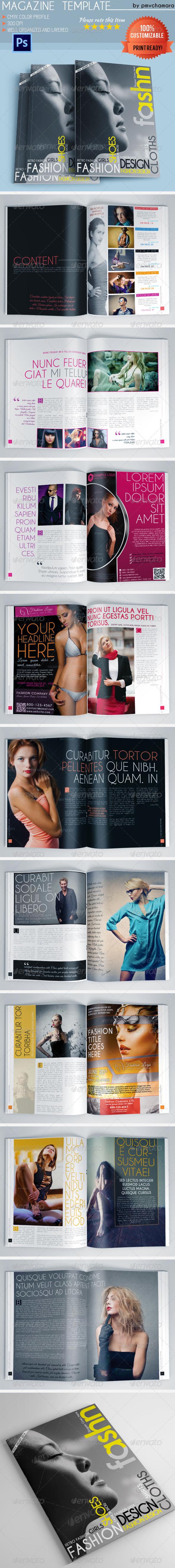 GraphicRiver Fashion Magazine Template 5570864