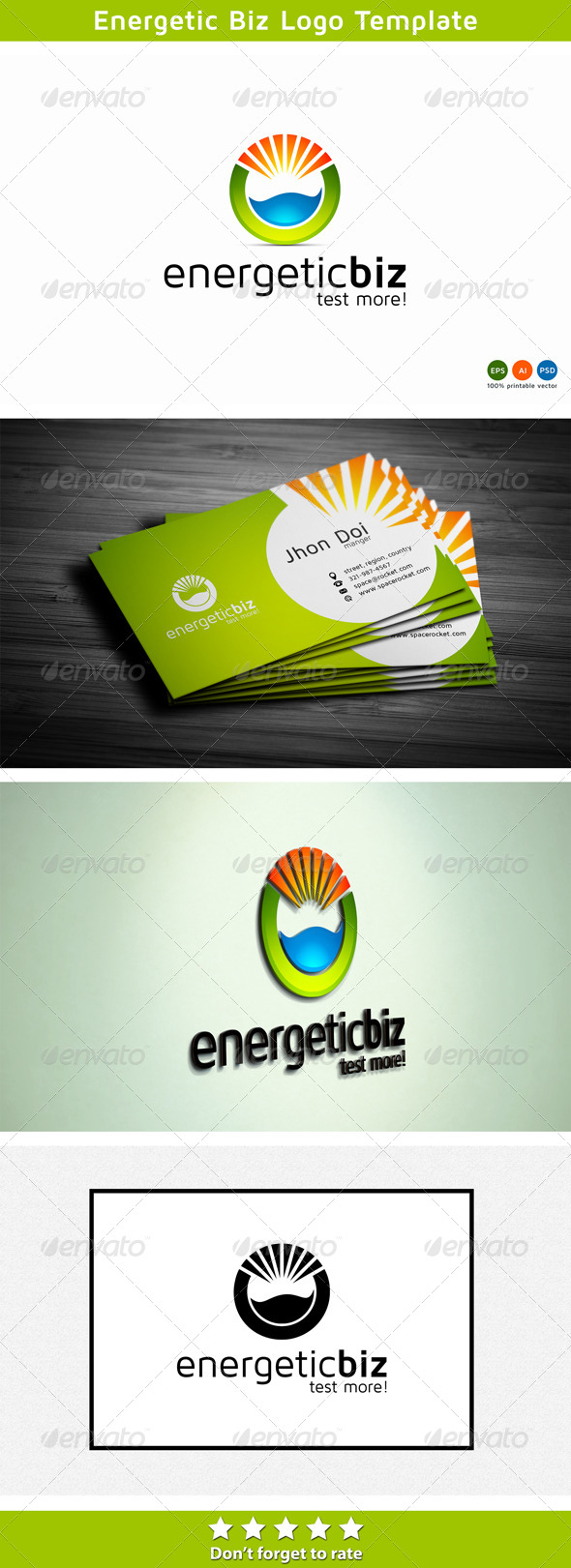 Energetic Logo - Nature Logo Templates