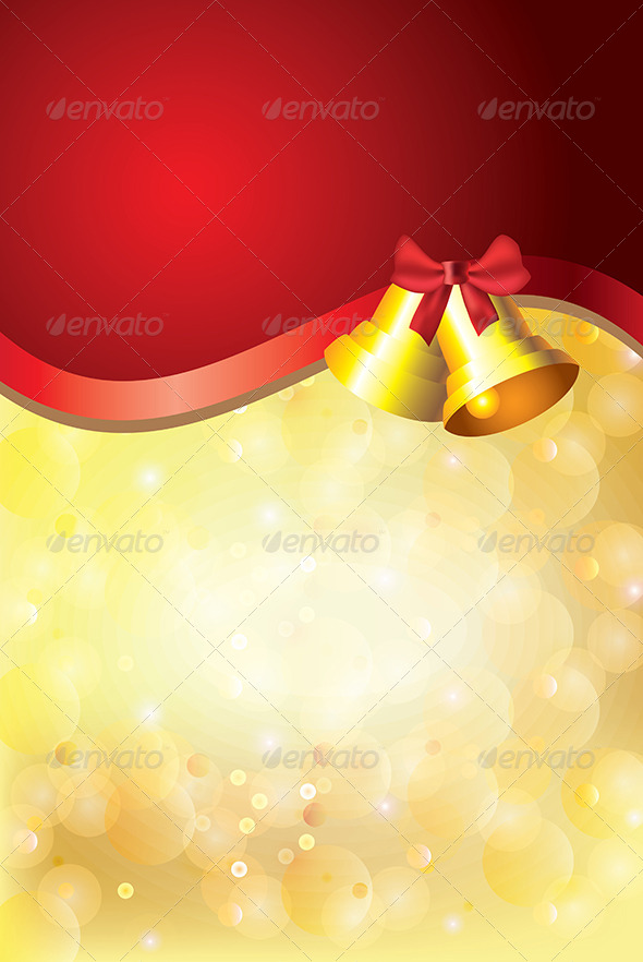 GraphicRiver Golden Christmas Background Jingle Bells 5570985
